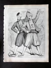 E. C. Mountfort - Dart 1880's Political Cartoon. Simson & Rogers Show